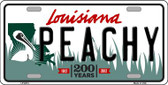 Peachy Louisiana Novelty Wholesale Metal License Plate