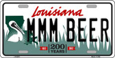 MMM Beer Louisiana Novelty Wholesale Metal License Plate