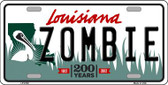 Zombie Louisiana Novelty Wholesale Metal License Plate LP-6749