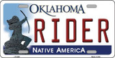 Rider Oklahoma Novelty Wholesale Metal License Plate LP-6245