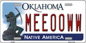 Meeooww Oklahoma Novelty Wholesale Metal License Plate LP-6252