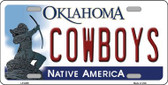 Cowboys Oklahoma Novelty Wholesale Metal License Plate LP-6259