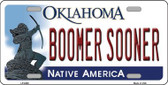 Boomer Sooner Oklahoma Novelty Wholesale Metal License Plate LP-6268