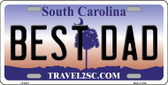 Best Dad South Carolina Novelty Wholesale Metal License Plate LP-6272