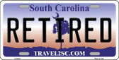 Retired South Carolina Novelty Wholesale Metal License Plate LP-6274