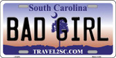 Bad Girl South Carolina Novelty Wholesale Metal License Plate LP-6278
