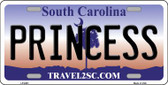 Princess South Carolina Novelty Wholesale Metal License Plate LP-6281