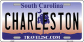 Charleston South Carolina Novelty Wholesale Metal License Plate LP-6301