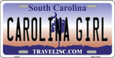 Carolina Girl South Carolina Novelty Wholesale Metal License Plate LP-6313