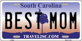 Best Mom South Carolina Novelty Wholesale Metal License Plate LP-6663