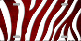 Red White Zebra Oil Rubbed Wholesale Metal Novelty License Plate