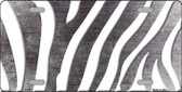 Black White Zebra Oil Rubbed Wholesale Metal Novelty License Plate