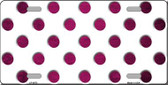 Pink White Dots Oil Rubbed Wholesale Metal Novelty License Plate