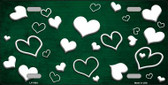 Green White Love Print Oil Rubbed Wholesale Metal Novelty License Plate