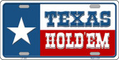Texas Hold Em Novelty Wholesale Metal License Plate