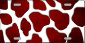 Red White Giraffe Oil Rubbed Wholesale Metal Novelty License Plate