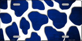Blue White Giraffe Oil Rubbed Wholesale Metal Novelty License Plate