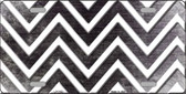 Black White Chevron Oil Rubbed Wholesale Metal Novelty License Plate