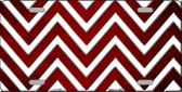 Red White Chevron Oil Rubbed Wholesale Metal Novelty License Plate
