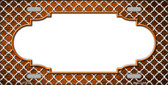 Orange White Quatrefoil Scallop Print Oil Rubbed Wholesale Metal Novelty License Plate