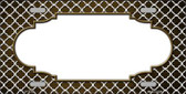 Brown White Quatrefoil Scallop Print Oil Rubbed Wholesale Metal Novelty License Plate