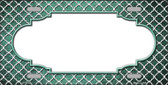 Mint White Quatrefoil Scallop Print Oil Rubbed Wholesale Metal Novelty License Plate