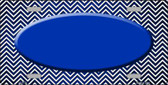 Blue White Small Chevron Oval Print Oil Rubbed Wholesale Metal Novelty License Plate