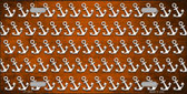 Orange White Anchor Print Oil Rubbed Wholesale Metal Novelty License Plate