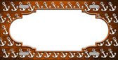 Orange White Anchor Scallop Print Oil Rubbed Wholesale Metal Novelty License Plate