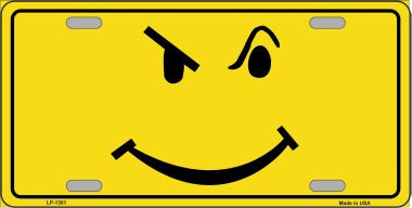 Defiant Smiley Novelty Wholesale Metal License Plate LP-1301