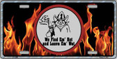 Find Hot Leave Wet Firefighter Novelty Wholesale Metal License Plate LP-1305