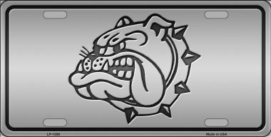 Bulldog Novelty Wholesale Metal License Plate