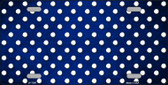 Blue White Small Dots Print Oil Rubbed Wholesale Metal Novelty License Plate