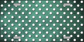 Mint White Small Dots Print Oil Rubbed Wholesale Metal Novelty License Plate