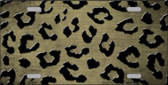 Gold Black Cheetah Print Oil Rubbed Wholesale Metal Novelty License Plate