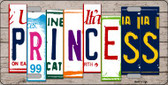 Princess License Plate Art Wood Pattern Wholesale Metal Novelty License Plate