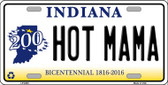 Hot Mama Indiana Novelty Wholesale Metal License Plate