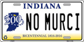 No Murci Indiana Novelty Wholesale Metal License Plate