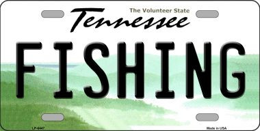 Fishing tennessee novelty wholesale metal license plate for Tn fishing license online