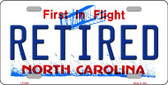 Retired North Carolina Novelty Wholesale Metal License Plate