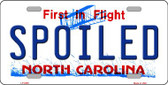 Spoiled North Carolina Novelty Wholesale Metal License Plate