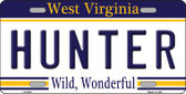 Hunter West Virginia Novelty Wholesale Metal License Plate
