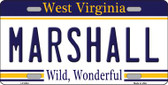 Marshall West Virginia Novelty Wholesale Metal License Plate
