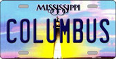 Columbus Mississippi Novelty Wholesale Metal License Plate