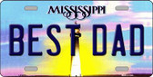 Best Dad Mississippi Novelty Wholesale Metal License Plate