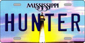 Hunter Mississippi Novelty Wholesale Metal License Plate
