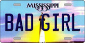 Bad Girl Mississippi Novelty Wholesale Metal License Plate