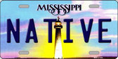 Native Mississippi Novelty Wholesale Metal License Plate
