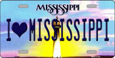 I Love Mississippi Novelty Wholesale Metal License Plate