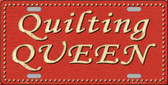 Quilting Queen Novelty Wholesale Metal License Plate